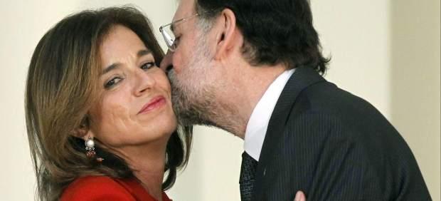 Ana Botella besada por Rajoy