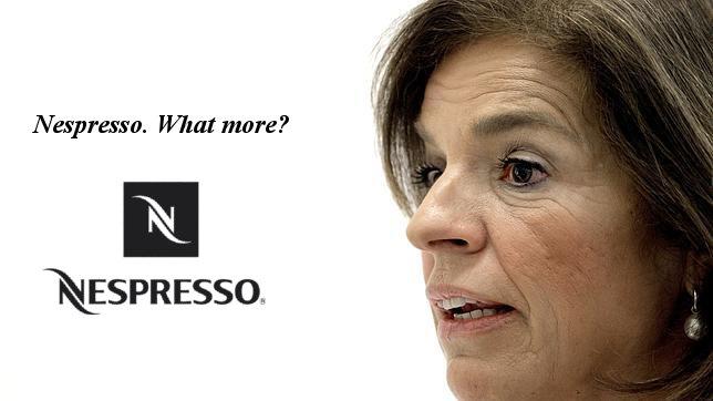 Anuncio de Nespresso protagonizado por Ana Botella