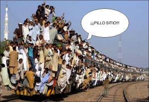El metro de madrid en hora punta