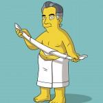 Jorge Javier Vázquez en los Simpson