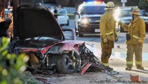 Imagen del accidente de tráfico de Paul Walker