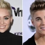 Miley Cyrus es Justin Bieber