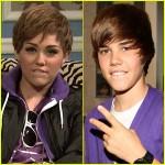 Comparar Miley Cyrus Justin Bieber