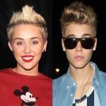 Foto comparando Justin Bienber y Miley Cyrus
