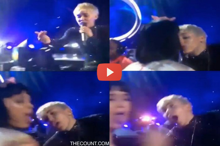 Miley Cyrus Katy Perry beso