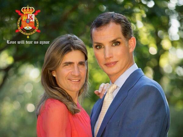 Felipe y Letizia faces