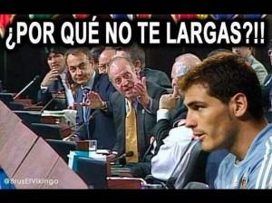 Meme Rey Juan Carlos Casillas
