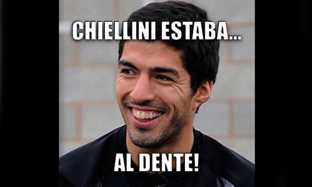 Meme Luis Suárez Chiellini al dente