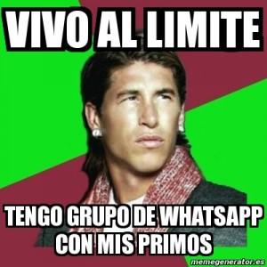 Grupo WhatsApp Sergio Ramos y sus primos