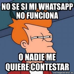 Memes Fry Futurama y WhatsApp