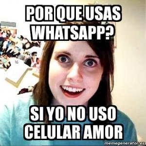 Novia Celosa WhatsApp