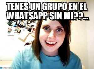 Novia celosa y el grupo de WhatsApp
