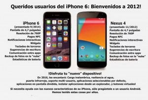 comparación iPhone 6