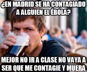 Ébola en Madrid meme