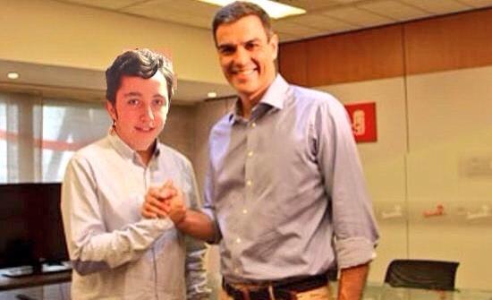Pequeño Nicolás con Pedro Sánchez