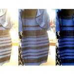 Vestido blanco y dorado o azul y negro. Explicación científica
