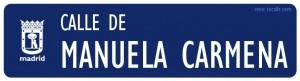 Calle de Manuela Carmena