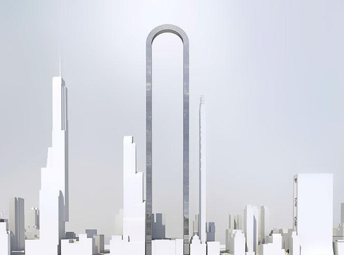 Rascacielos curvo