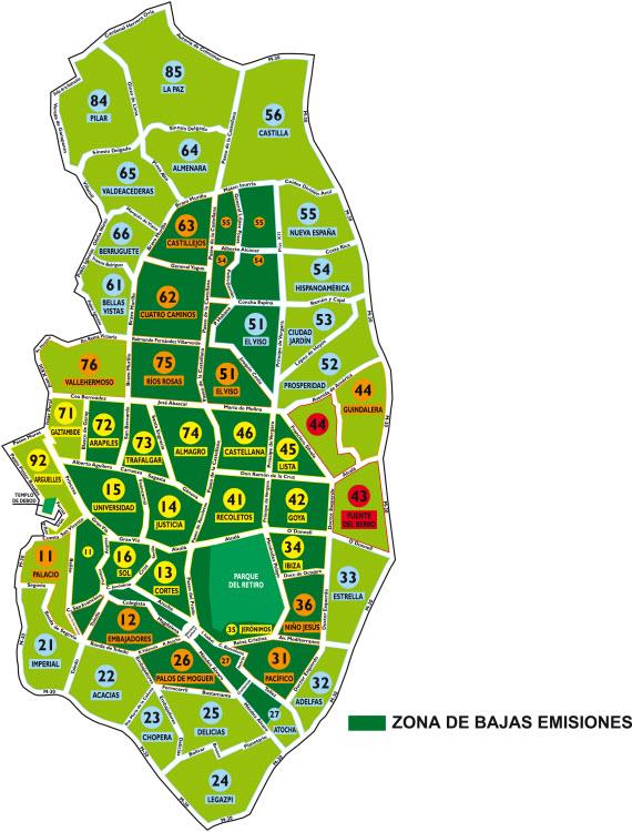 Zona verde Madrid
