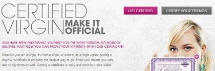 certificado virginidad