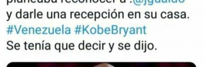 Kobe Bryant muerte Nicolas Maduro